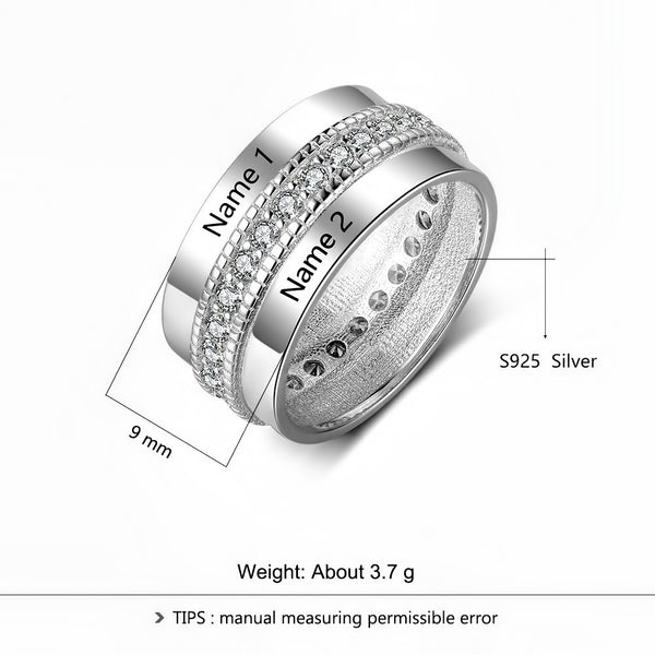 Customized Birthstone Silver Ring G • Free Shipping - Design Forms Of Art
