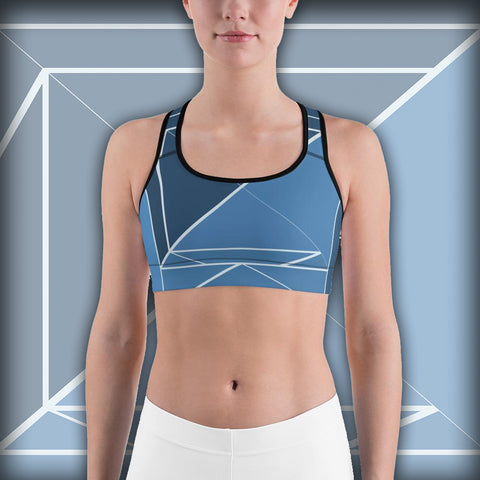 Hipster Blue - Sports bra - Design Forms Of Art