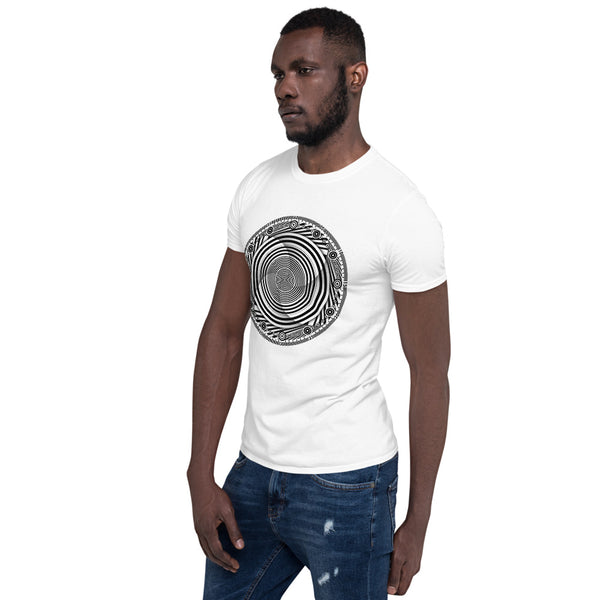 Hypnotic Circle Swirl - B • Short-Sleeve Unisex T-Shirt - Design Forms Of Art