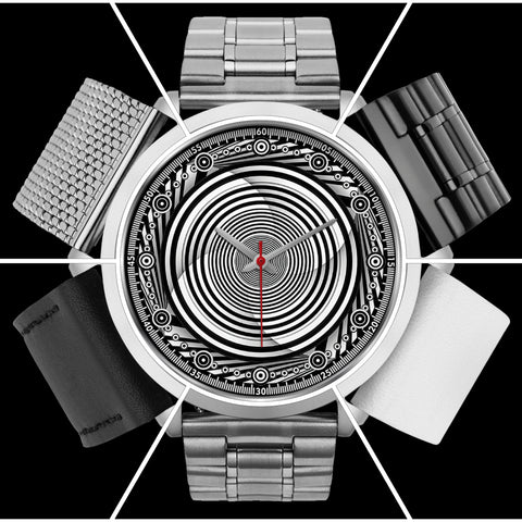 Hypno Circle Swirl - B • Luxury Art Watch - Design Forms Of Art