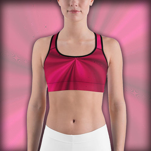 Hypno Red Metallic Swirl - Sports bra - Design Forms Of Art