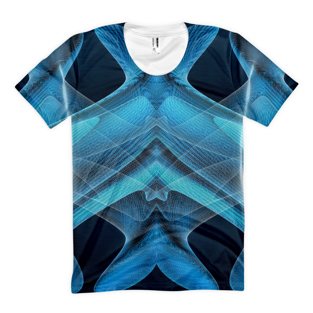 Jellyfish Blueallization - Sublimation women's crew neck t-shirt - Design Forms Of Art