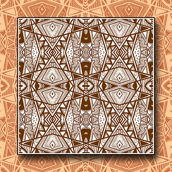 Abstract Pattern Kaleidoscope Background 03 - Vector - Design Forms Of Art