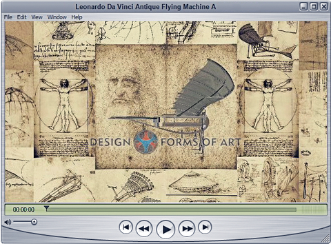 Da Vinci - Flying Machine - Animation - Design Forms Of Art