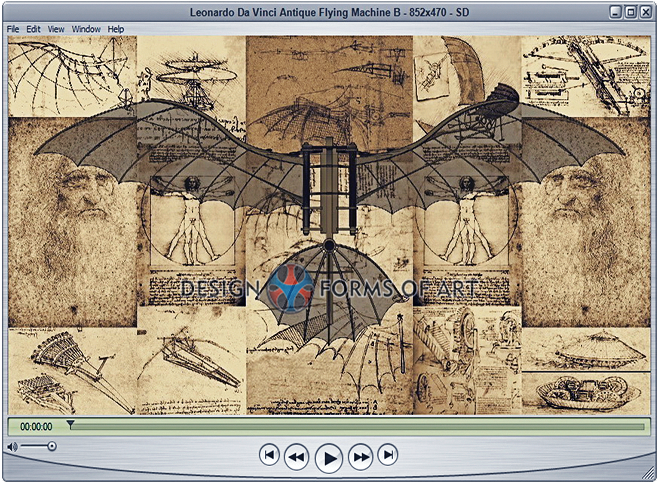 Da Vinci - Flying Machine - Maneuver Animation - Design Forms Of Art