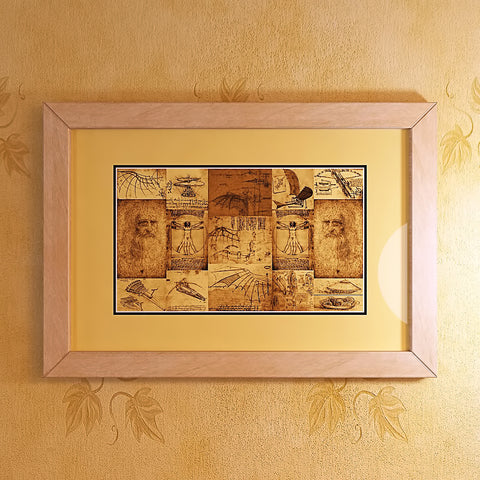 Leonardo Da Vinci Inventions Sketches - Framed Print - Design Forms Of Art
