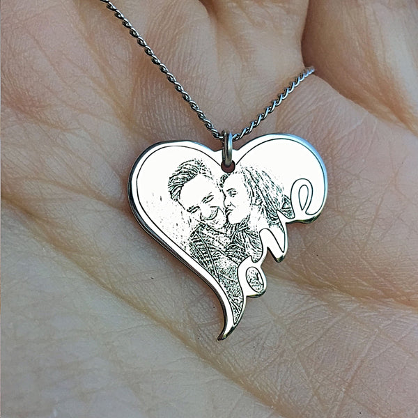 Personalized Love Photo Pendant Necklace - A - Design Forms Of Art