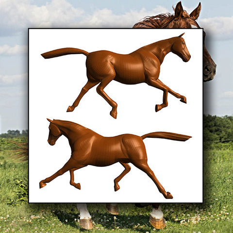 Majestic Strong Royal Horse 01 - Vector - Design Forms Of Art