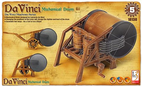 Da Vinci - Mechanical Drum - Educational Model - Design Forms Of Art