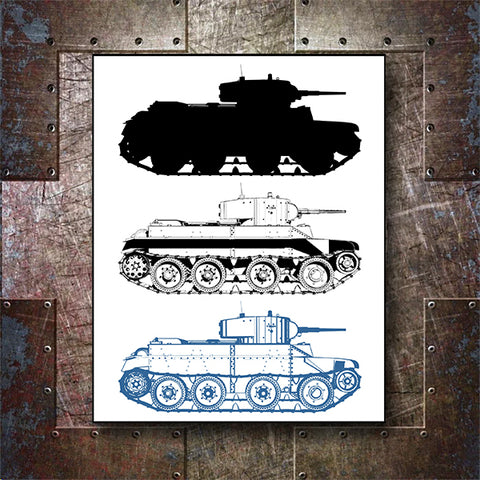 Military Tank WWII 01 - Vector