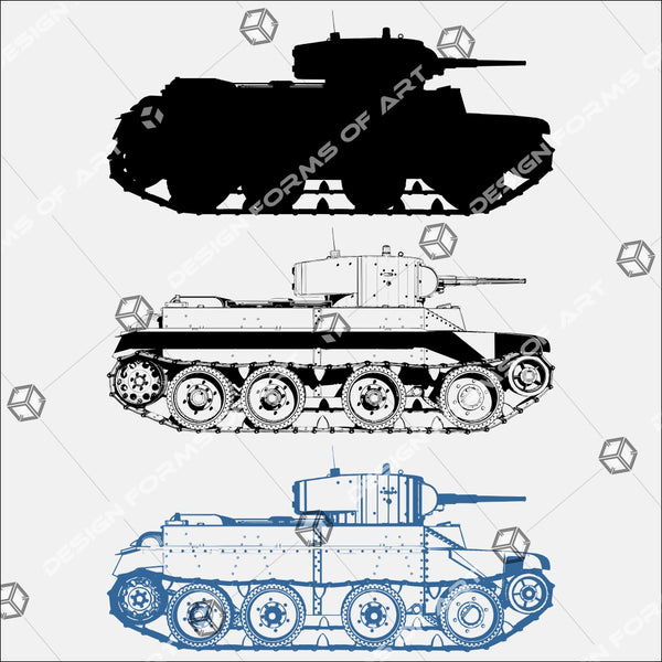 Military Tank WWII 01 - Vector - Design Forms Of Art