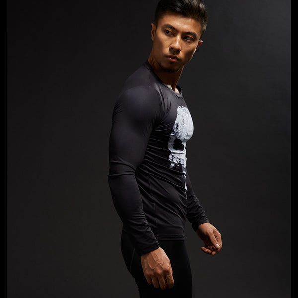 Punisher Compression Long Sleeve Shirt • Free Shipping - Design Forms Of Art