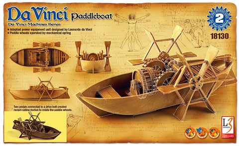 Da Vinci - Paddleboat - Educational Model - Design Forms Of Art