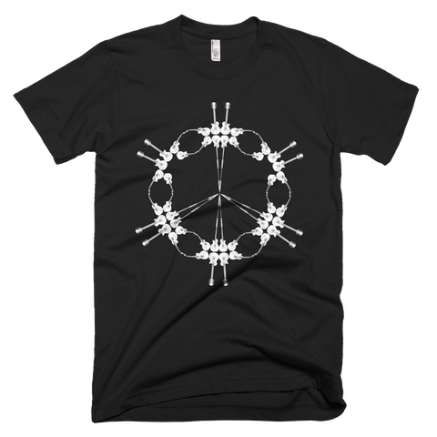 Guitars Peace Symbol - T-Shirt - Design Forms Of Art