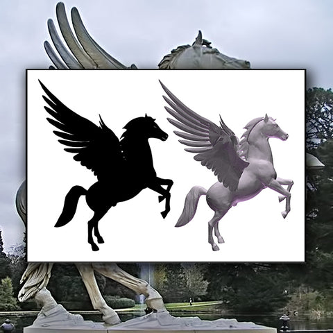 Pegasus Horse With Wings 01 - Vector - Design Forms Of Art