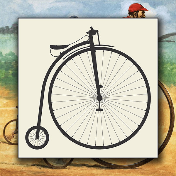 Penny-Farthing Bicycle Isolated On White Background 01 - Vector - Design Forms Of Art