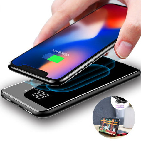 Qi Wireless Phone Charger Power Bank • Free Shipping