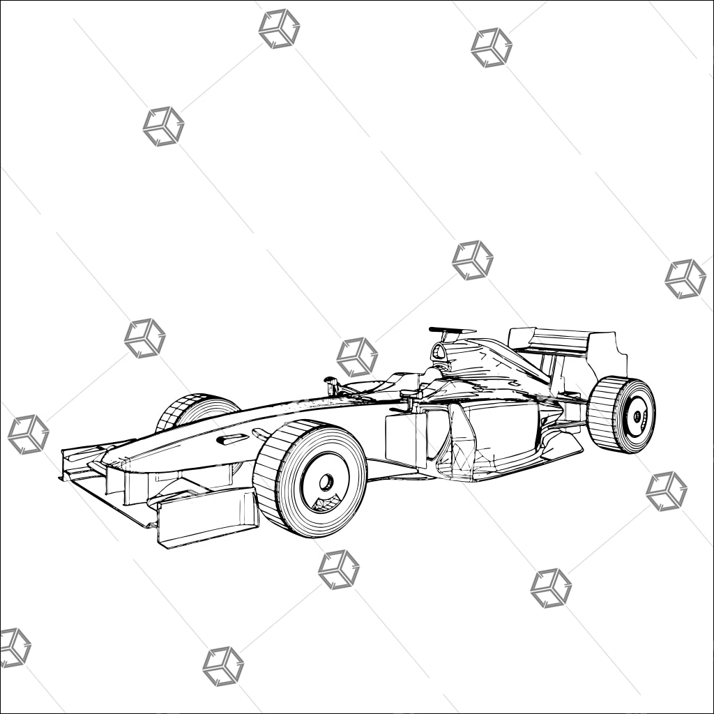 Formula Sport Race Car Isolated On White Background 01 - Vector - Design Forms Of Art