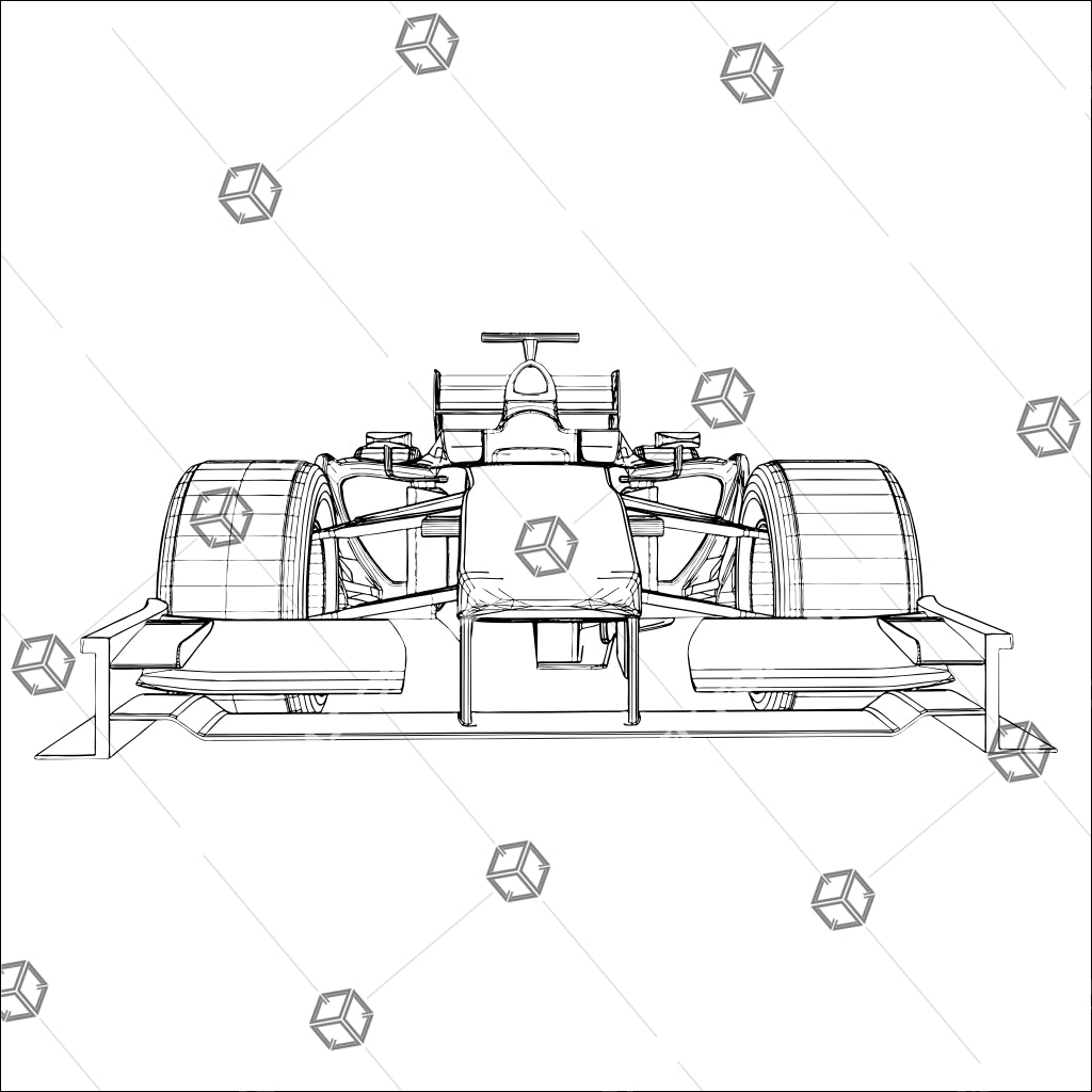 Formula Sport Race Car Isolated On White Background 02 - Vector - Design Forms Of Art
