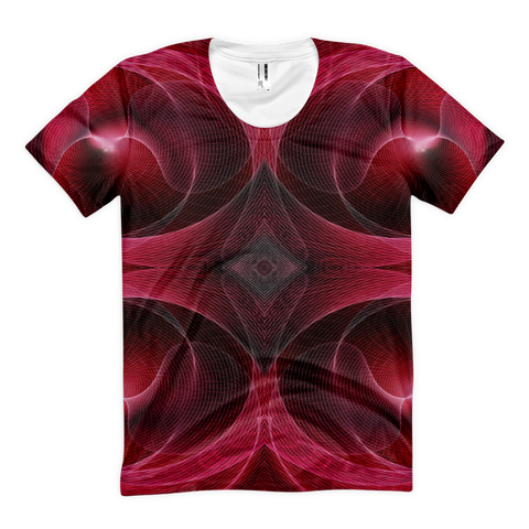 Redallization Women's - Sublimation women's crew neck t-shirt - Design Forms Of Art