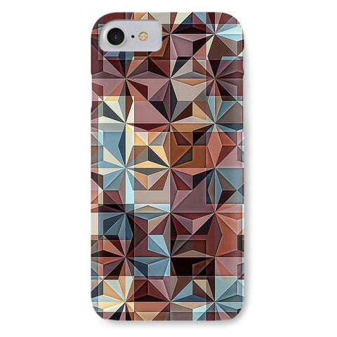 Retro Colorful Hipster Mosaic - Phone Case - Design Forms Of Art