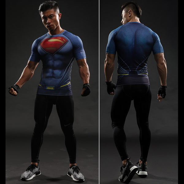 Superman Compression Shirt - Design Forms Of Art