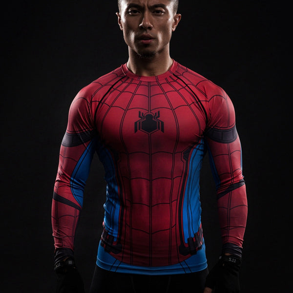 Spider-Man Compression Long Sleeve Shirt - Design Forms Of Art