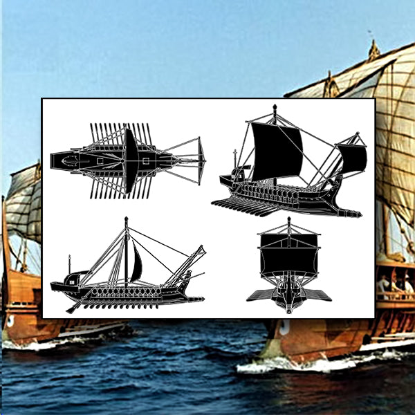 The Ancient Greek Ship 01 - Vector