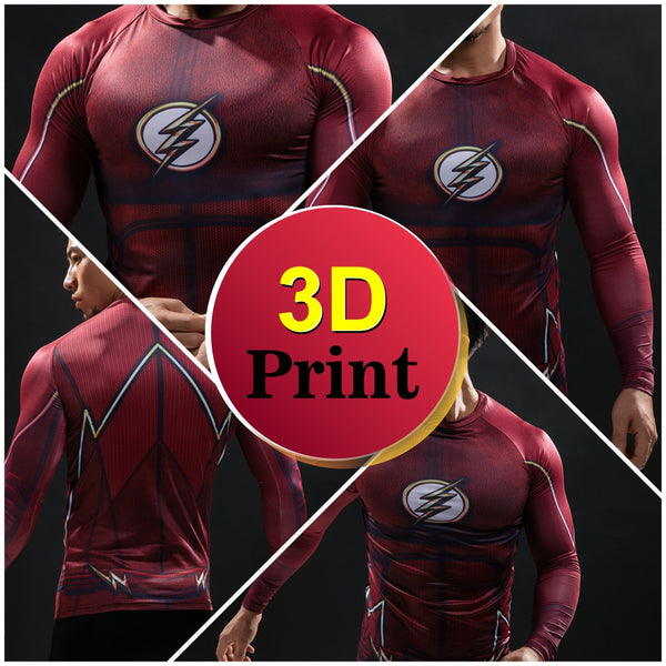 The Flash Compression Long Sleeve Shirt - Design Forms Of Art