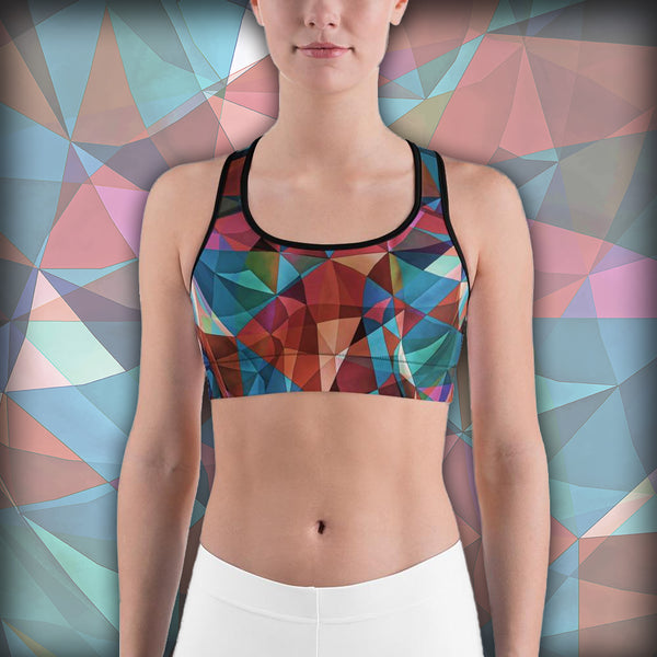Triangular Crowd - Sports bra - Design Forms Of Art
