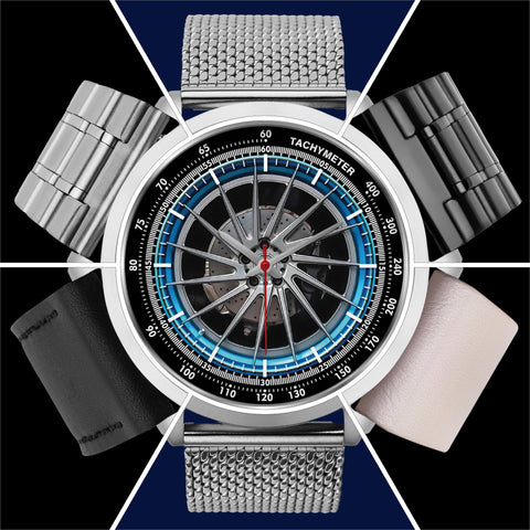 Wheels OF Steel Ca • Luxury Art Watch - Design Forms Of Art