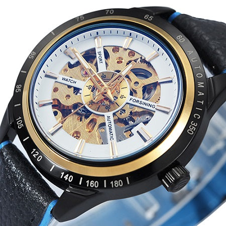 Men Skeleton Automatic Watch • Free Shipping