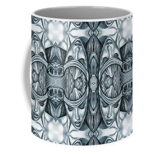 Women Face Wall - Mug - Design Forms Of Art