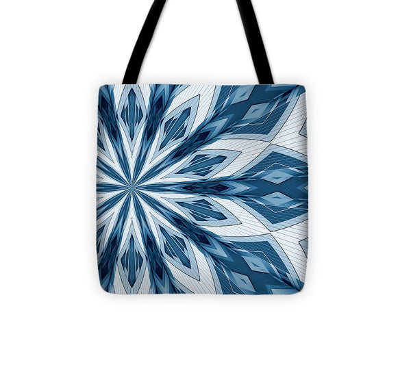 Blue Ornamental Constructions - Tote Bag - Design Forms Of Art