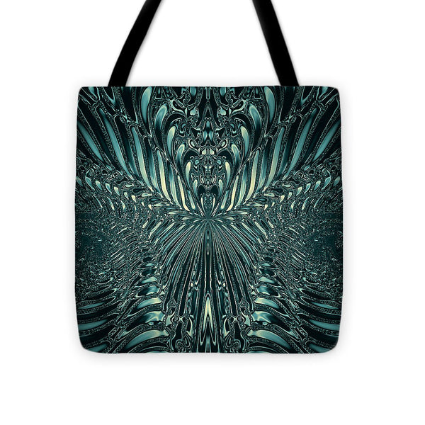 Aliens Green Skeleton - Tote Bag - Design Forms Of Art