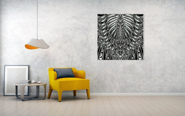 Aliens Skeleton - Art Print - Design Forms Of Art