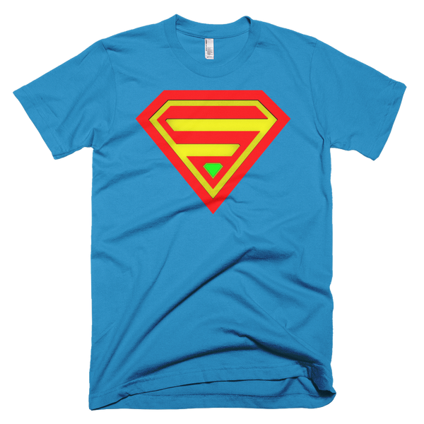 SUPERHERO Short Sleeve Men T-Shirt - Design Forms Of Art