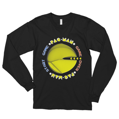 PAC-MAN Cherokee Long Sleeve Men T-Shirt - Design Forms Of Art