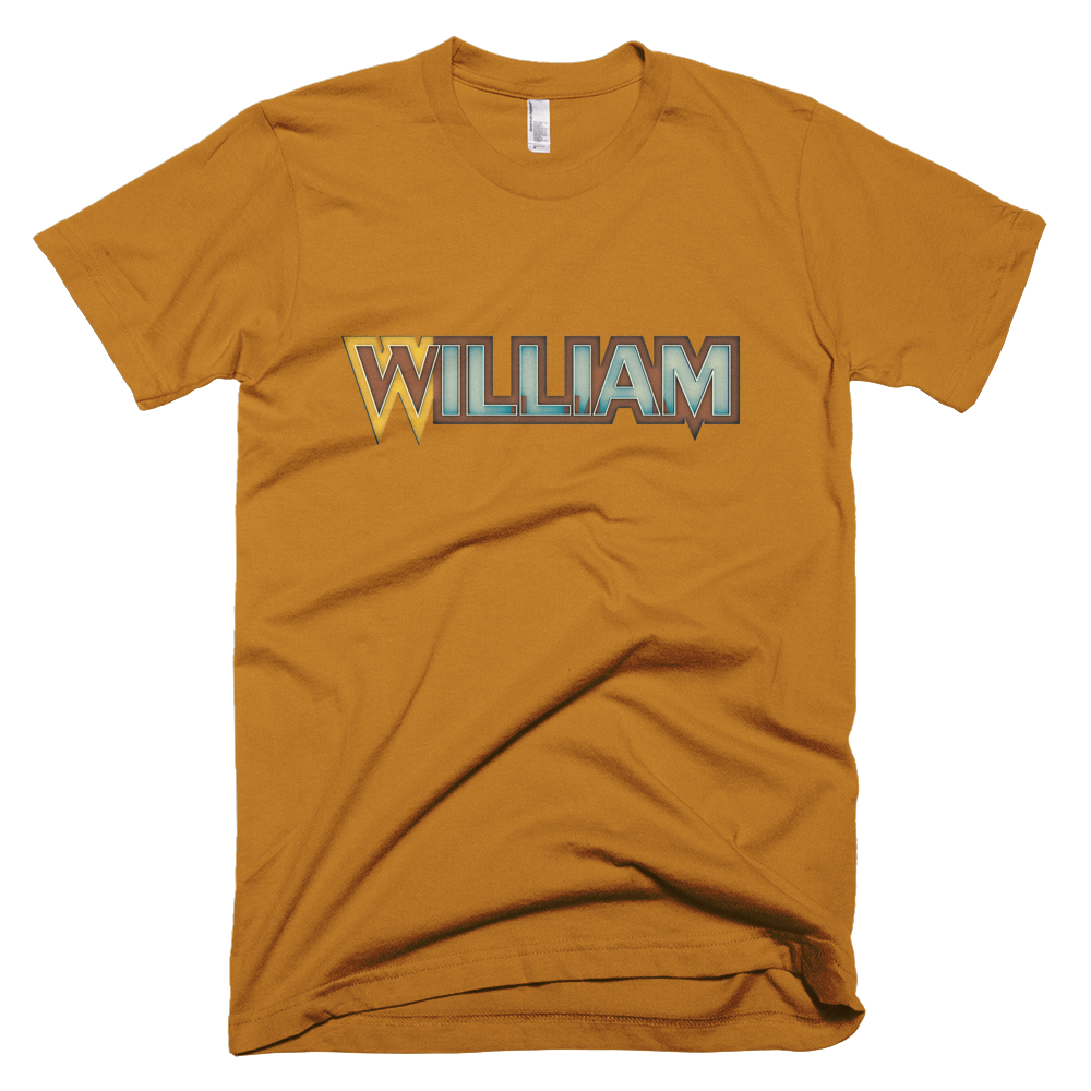 WILLIAM Short Sleeve Men T-Shirt - Design Forms Of Art