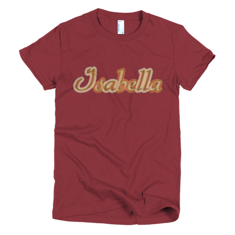 ISABELLA Short Sleeve Women T-Shirt - Design Forms Of Art