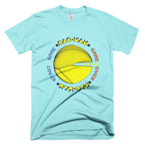 PAC-MAN Cherokee Short Sleeve Men T-Shirt - Design Forms Of Art