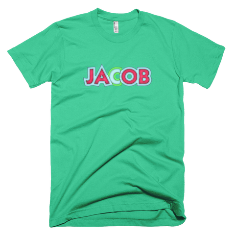 JACOB Short Sleeve Men T-Shirt - Design Forms Of Art