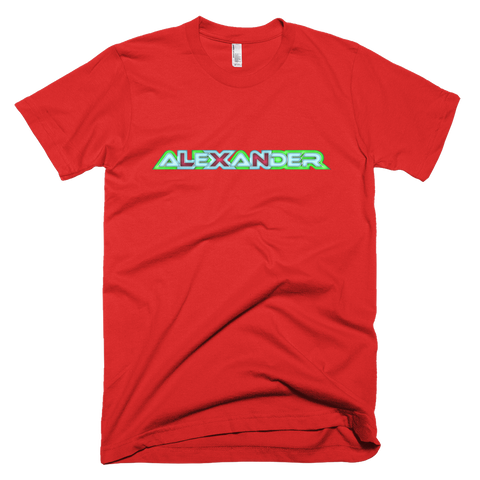 ALEXANDER Short Sleeve Men T-Shirt - Design Forms Of Art
