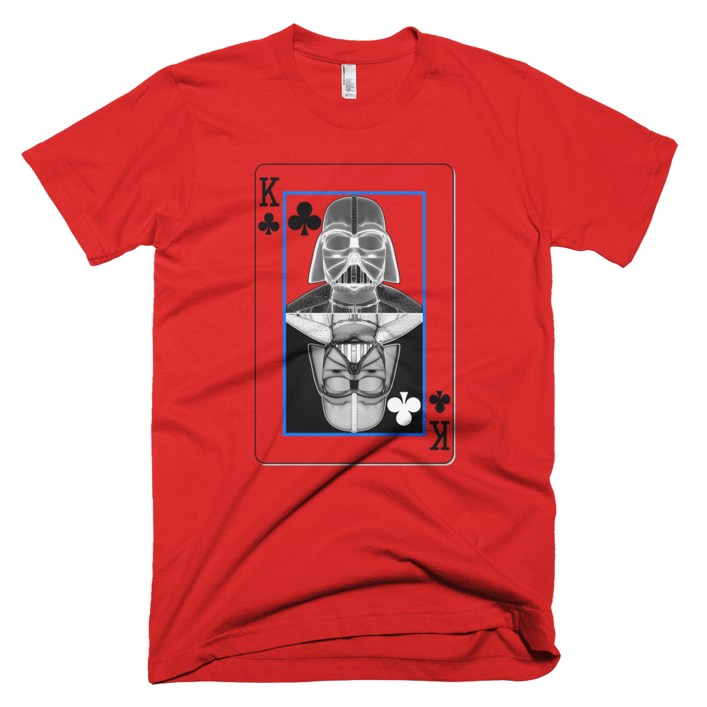 Darth Vader - King of Clubs - Yin-Yang Short Sleeve Men T-Shirt - Design Forms Of Art