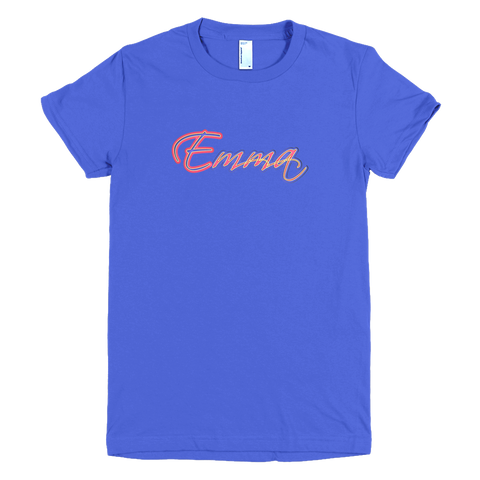 EMMA Short Sleeve Women T-Shirt - Design Forms Of Art