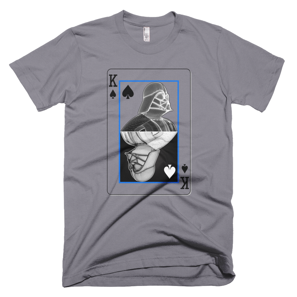 Darth Vader - King of Spades - Yin-Yang Short Sleeve Men T-Shirt - Design Forms Of Art