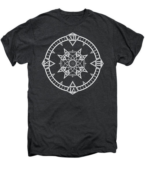 Clock Watch Gothic Tattoo Compass - Men's Premium T-Shirt - Design Forms Of Art