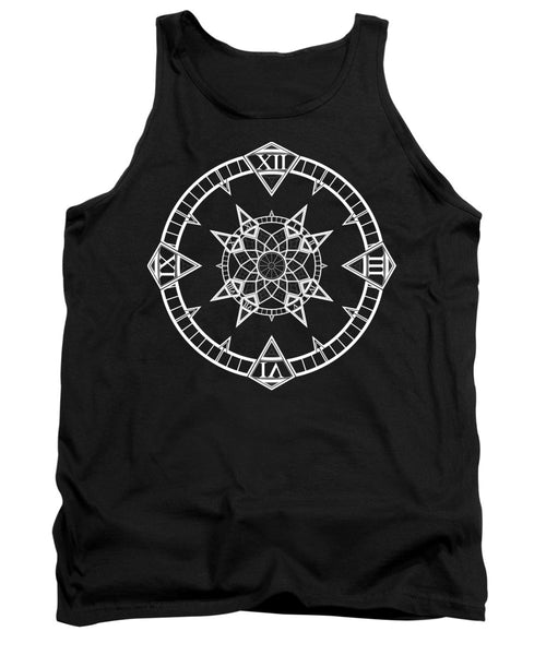 Clock Watch Gothic Tattoo Compass - Tank Top - Design Forms Of Art
