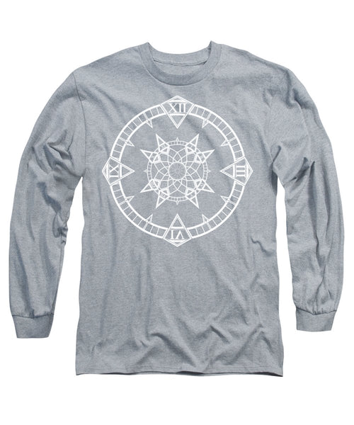 Clock Watch Gothic Tattoo Compass - Long Sleeve T-Shirt - Design Forms Of Art