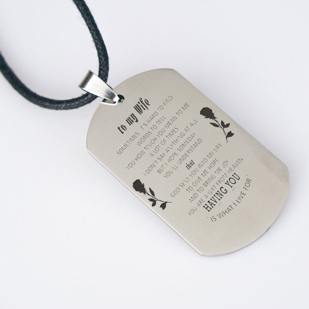 Having You - DogTag Necklace - Design Forms Of Art